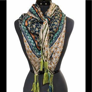 Johnny Was silk floral scarf